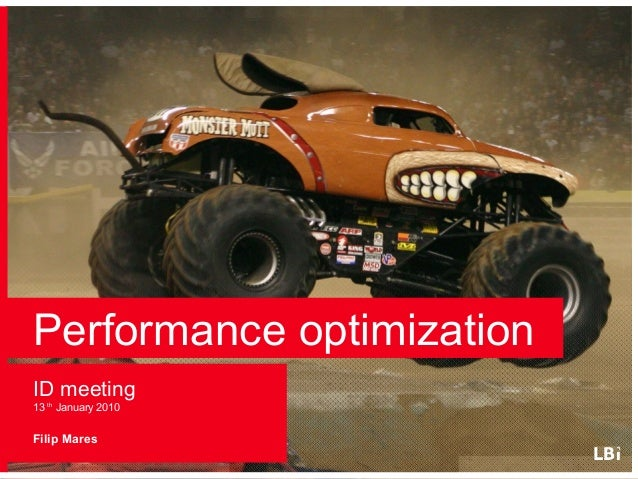 Performance optimization - Basics