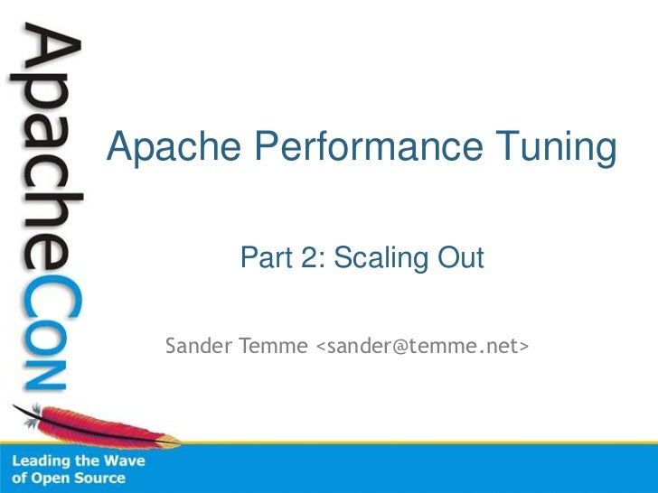Apache Performance Tuning: Scaling Out