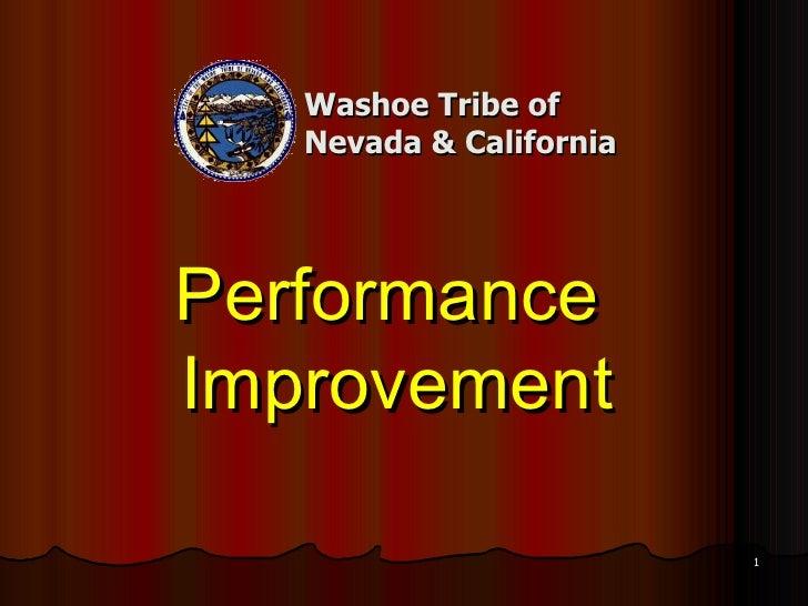 Washoe Tribe of Nevada & California Performance  Improvement