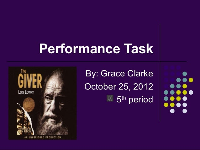 Performance Task      By: Grace Clarke      October 25, 2012             5th period