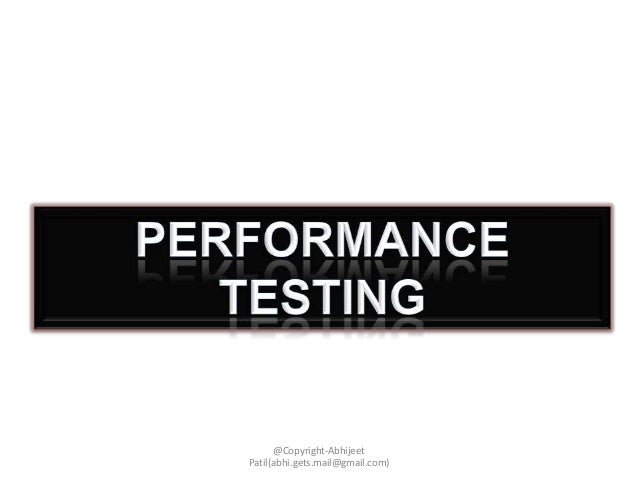 Approaching Performance testing