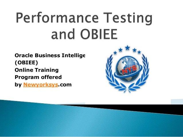 Performance Testing & OBIEE-Training @ Newyorksys