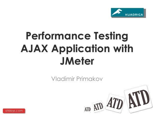 Тестирование производительности Ajax приложений с помощью JMeter