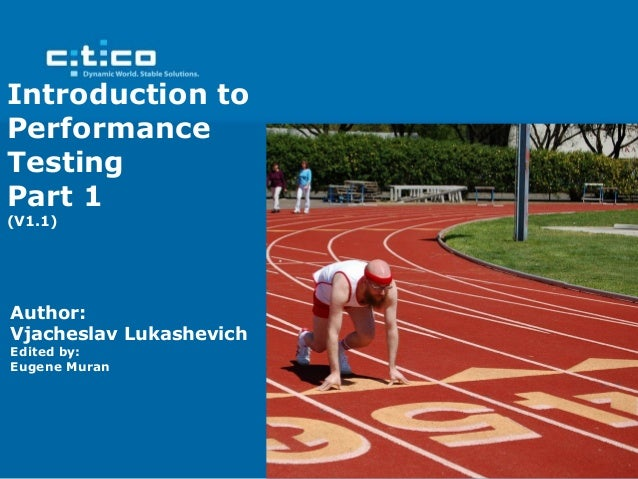 Introduction to Performance Testing Part 1
