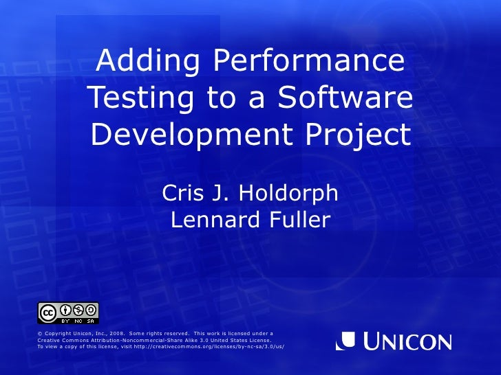 Adding Performance Testing to a Software Development Project