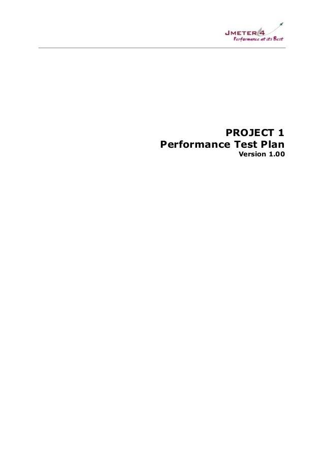 Performance Test Plan - Sample 2