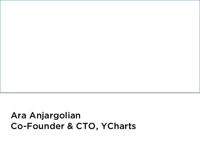 Performant Django Ara Anjargolian Co-Founder & CTO, YCharts
