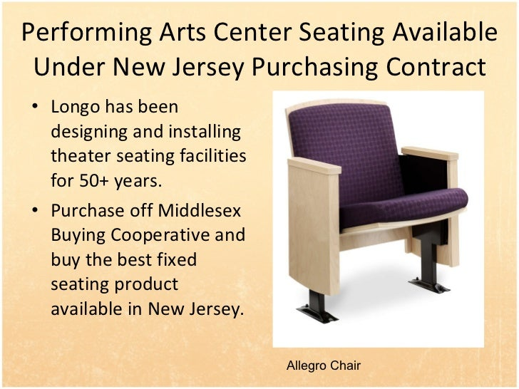 Performing Arts Center Seating on New Jersey Purchasing Contract (part 3)