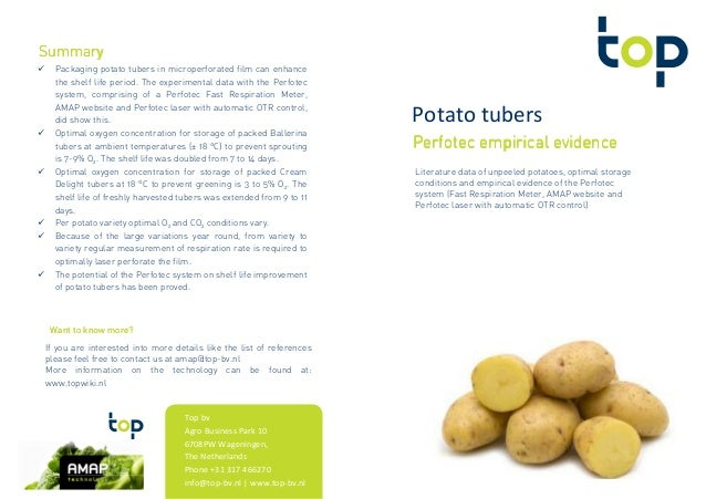 Potato tubers Perfotec empirical evidencePerfotec empirical evidencePerfotec empirical evidencePerfotec empirical evidence...