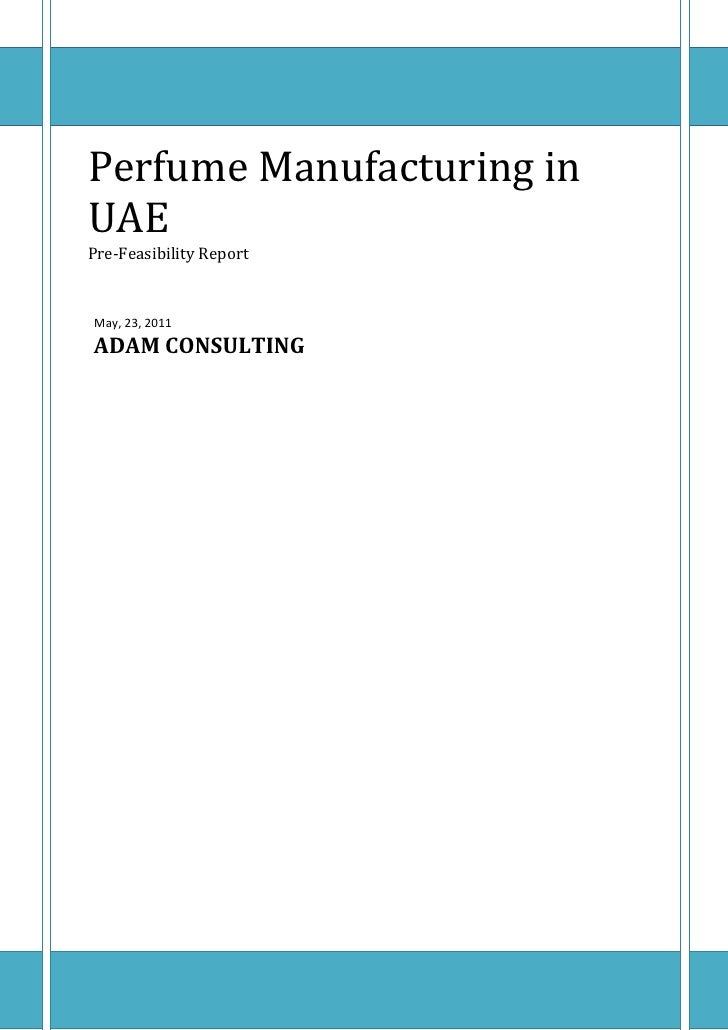 Perfume manufacturing business plan