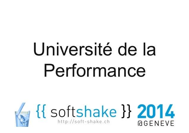 1  1  Université de la  Performance