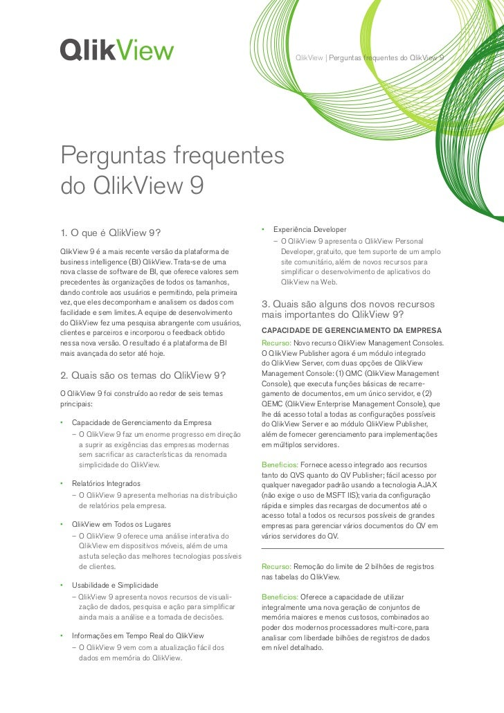 QlikView | Perguntas frequentes do QlikView 9Perguntas frequentesdo QlikView 9                                            ...