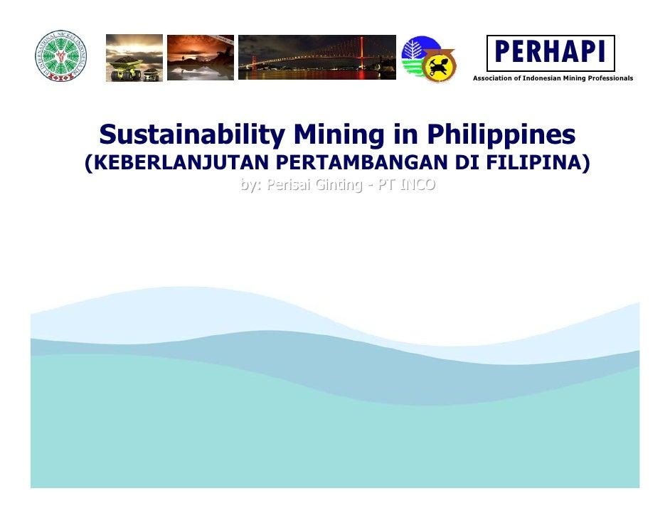 PERHAPI                                             Association of Indonesian Mining Professionals      Sustainability Min...