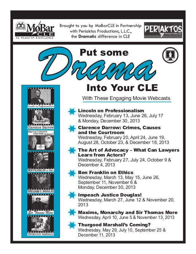 MoBar CLE | Put Some Drama Into Your CLE
