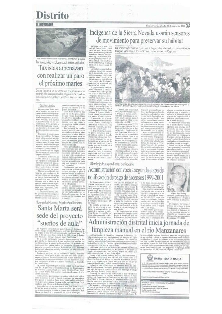 Periódico el informador -Santa Marta