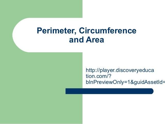 Perimeter area circumference