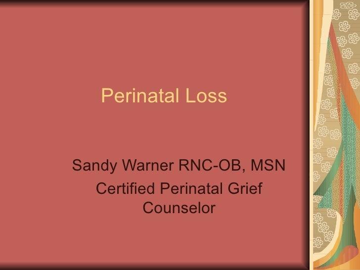 Perinatal loss 2010 review day 3