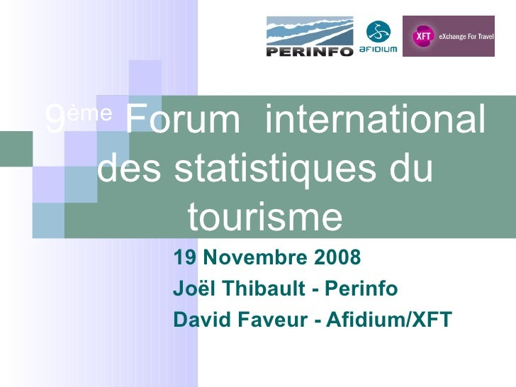 Perinfo   Xft   Forum International Des Stats Su Tourisme