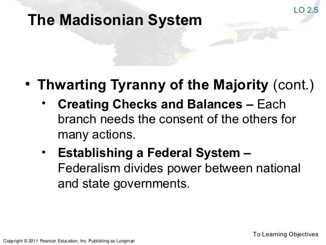 constitutionalism the tyranny of the majority Get an answer for 'how does the constitution prevent tyrannyhow does the constitution prevent tyranny' and find where we have tyranny by the majority,we do not.