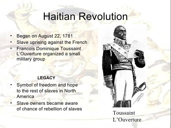 Compare and contrast the causes and effects of the american and haitian revolutions?