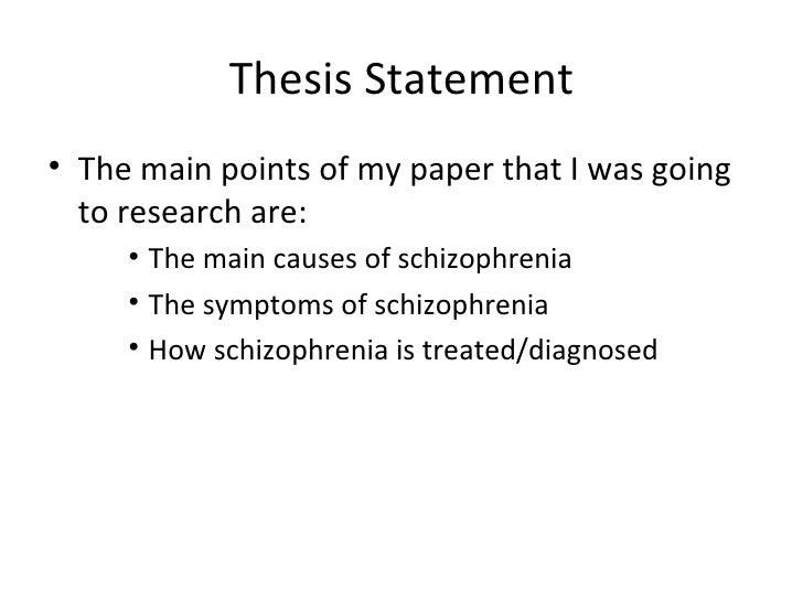 Schizophrenia thesis