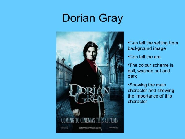 the picture of dorian gray character
