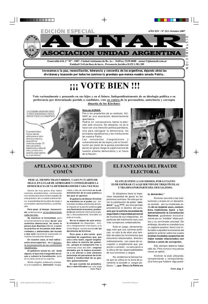 EDICIÓN ESPECIAL                                                                                           AÑO XIV - Nº 21...