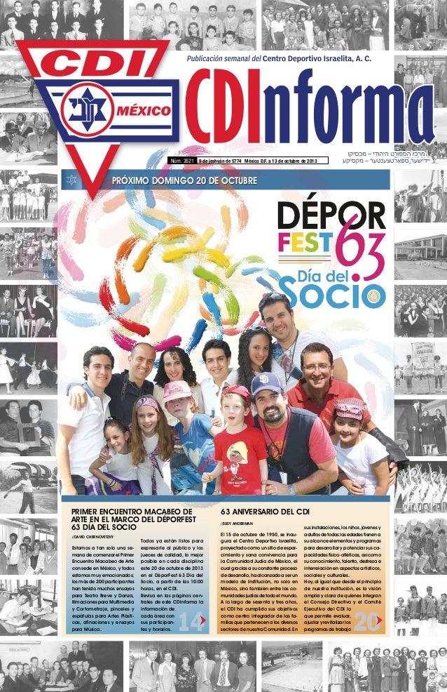 CDInforma Núm. 2621 9 de jeshván de 5774 México D.F. a 13 de octubre de 2013