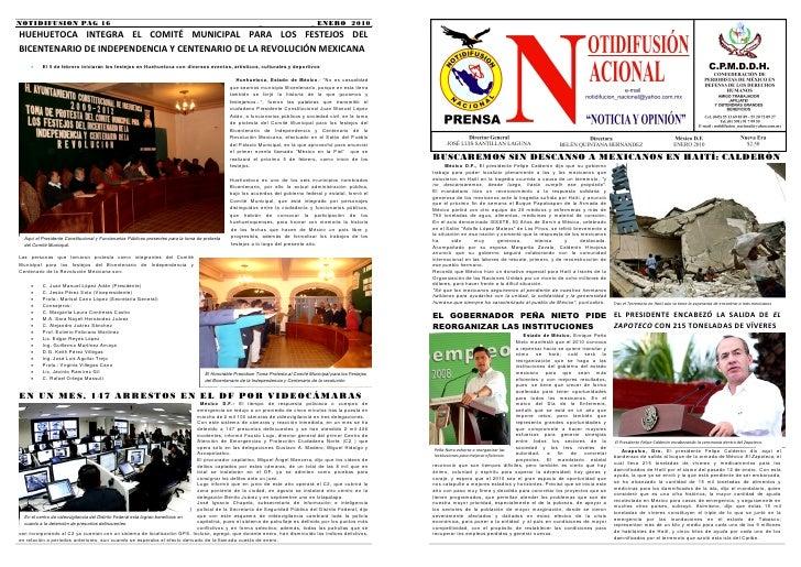 PERIDICO NOTIDIFUSION NACIONAL - ENERO 2010