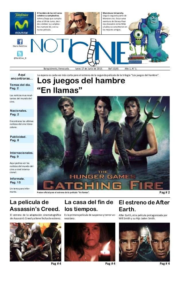 """Los juegos del hambre """"En llamas"""" La película de Assassin's Creed. El estreno de la adaptación cinematográfica de Assassin..."""