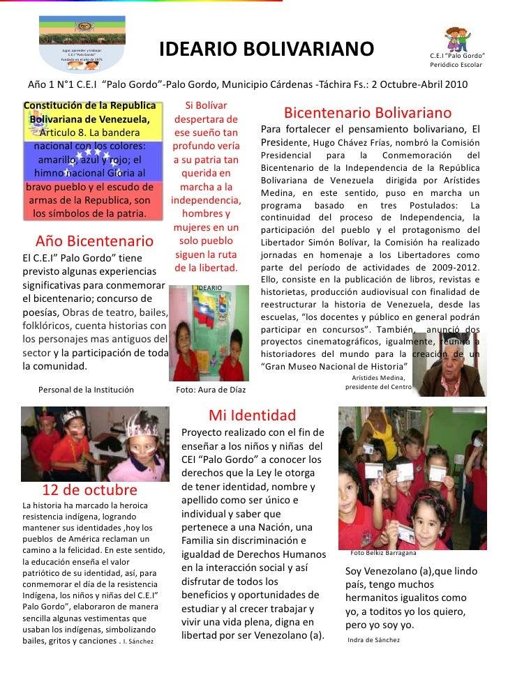 Periodico escolar correo del orinoco palo gordo for Como elaborar un periodico mural escolar