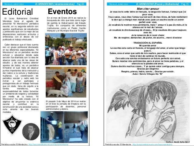 Peri dico escolar liceo cristobal mendoza n 02 for Ejemplo de editorial de un periodico mural