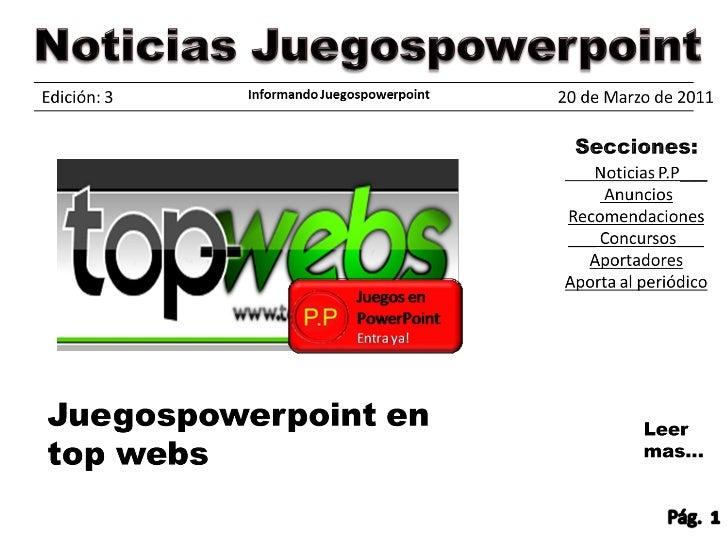 Periodico Juegospowerpoint edicion 3