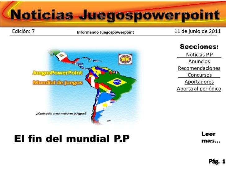 Periodico juegospowerpoint edicion 7