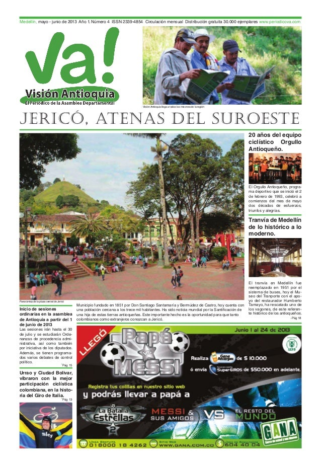 Periódico Visión Antioquia VA! -  Asamblea de Antioquia