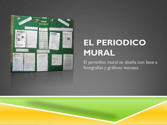 El peri dico mural clases for Componentes de un periodico mural