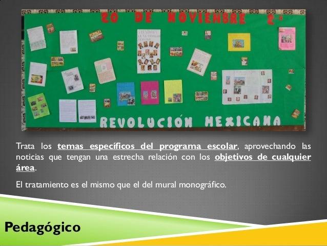 El peri dico mural clases for Estructura de un periodico mural escolar