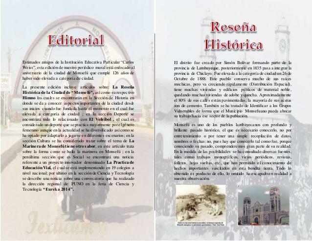 Aniversario de monsefu periodico mural for Editorial de un periodico mural