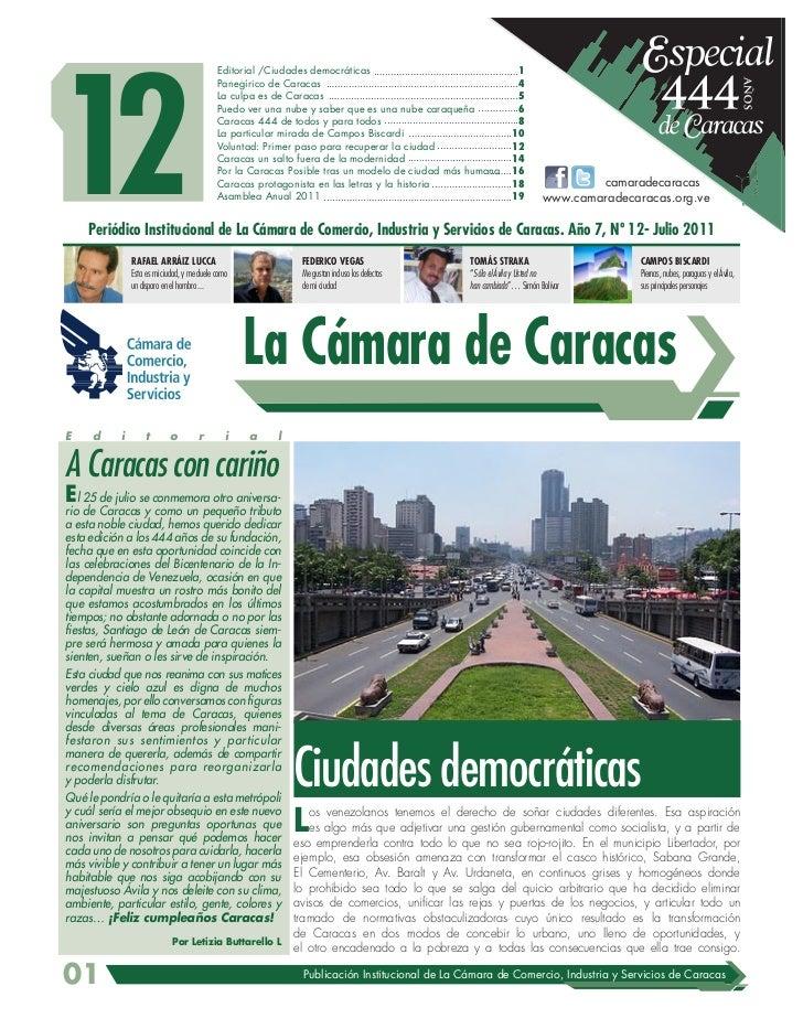Periodico Cámara de Caracas nº12 444 años