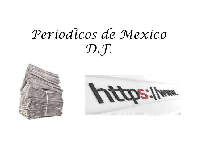 Periodicos de mexico D.F