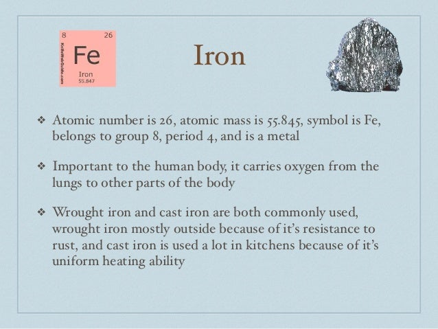 Periodic table - What is fe on the periodic table ...