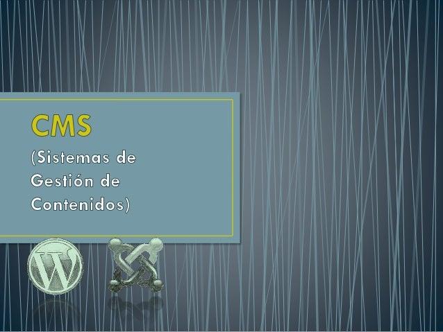 Un sistema de gestión de contenidos (Content Management Systems o CMS) es un software que se utiliza principalmente para f...