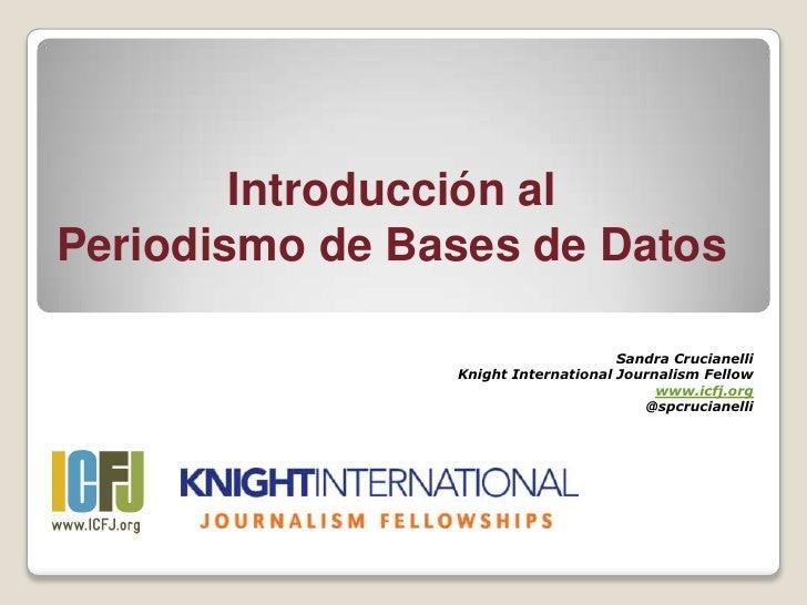 Periodismo de datos introducción