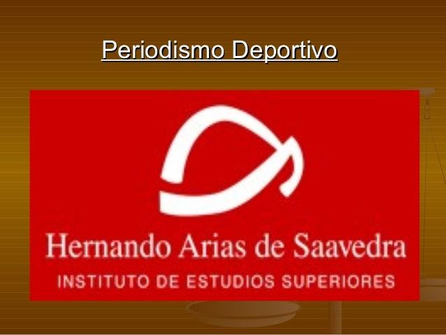 Periodismo DeportivoPeriodismo Deportivo
