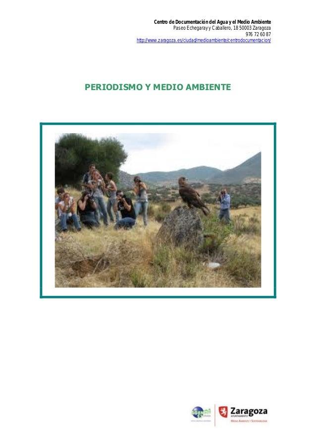Periodismo y medio ambiente