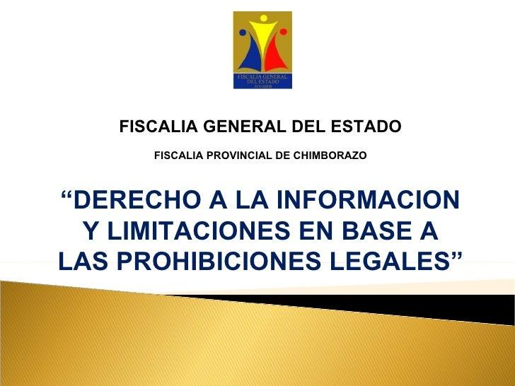 Periodismo y normas legales - Fiscalía Chimborazo