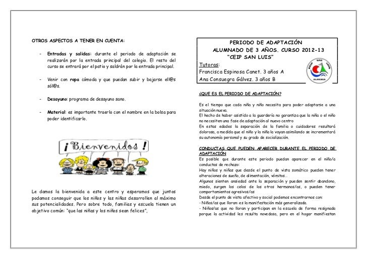 Periodo de adaptaci n for Adaptacion jardin infantil