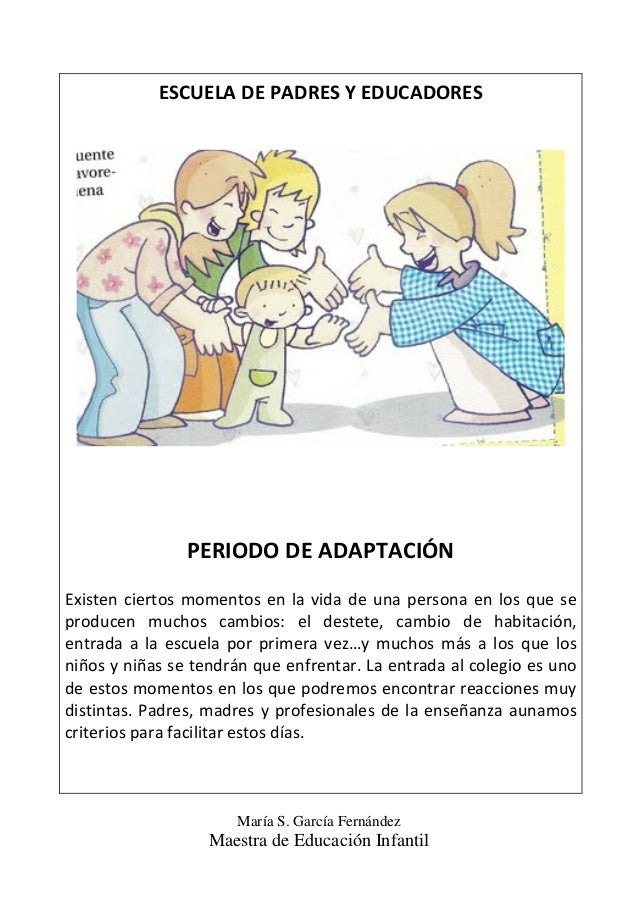 Periodo de adaptaci n educaci n infantil 3 a os for Adaptacion jardin