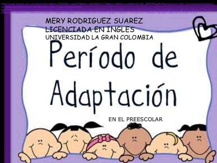 periodo de adaptacion al preescolar