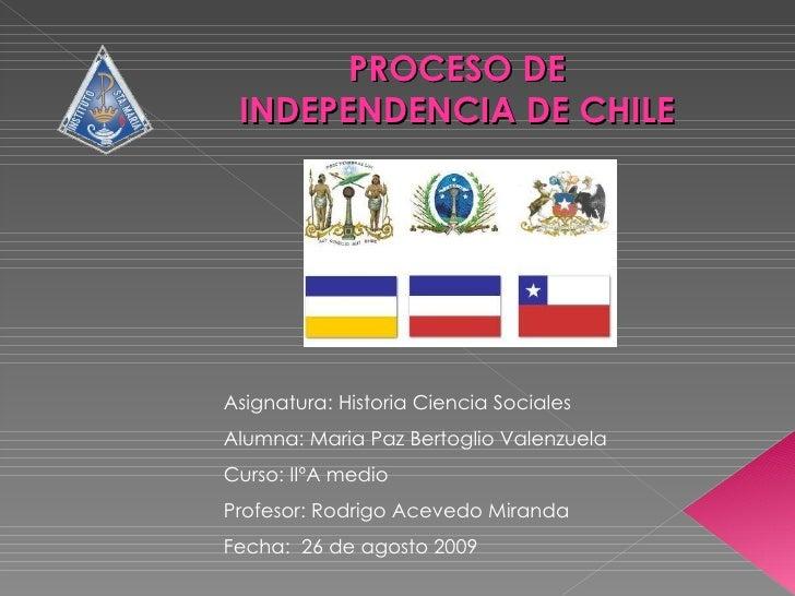 Asignatura: Historia Ciencia Sociales Alumna: Maria Paz Bertoglio Valenzuela Curso: IIºA medio Profesor: Rodrigo Acevedo M...
